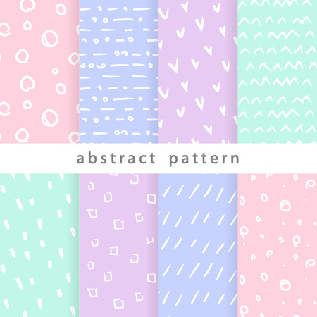 Collection of seamless patterns from abstract elements. Use in various types of design and decor