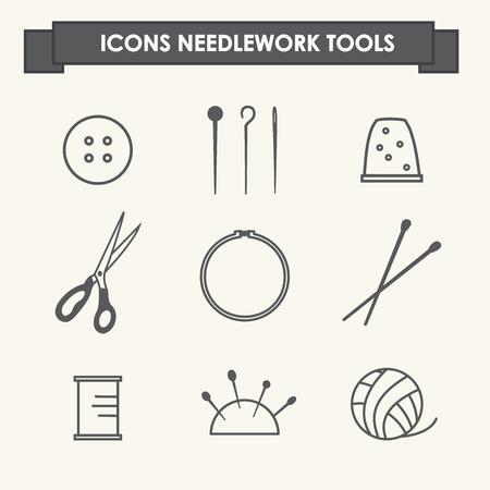 Icons needlework tools