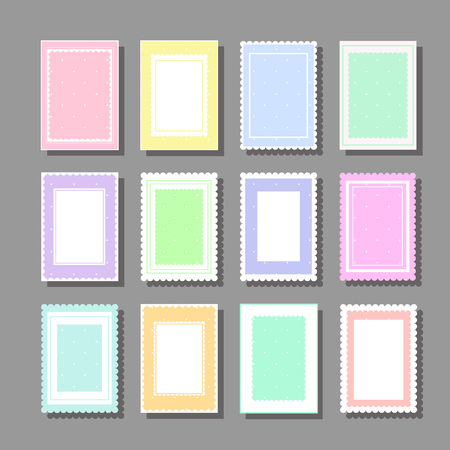 Collection of cute girlish backgrounds for various kinds of design such as postcard, invitation, poster, frame