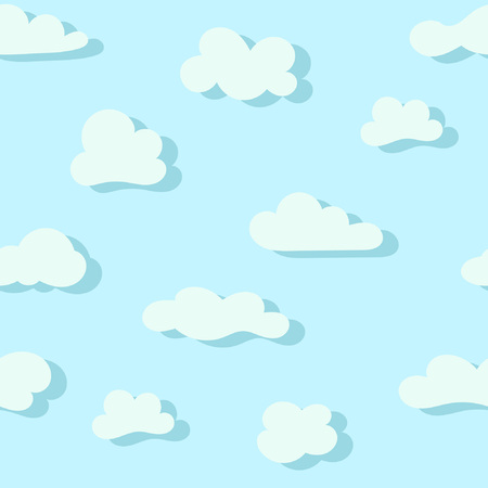 Seamless pattern with cartoon clouds. Great for prints, textiles, covers, gift wrappers, backdrops 矢量图像