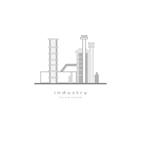 Composition on the theme of factories and production. Suitable for creating corporate identity, logo, advertising