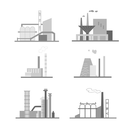 Set of compositions on the theme of production. Suitable for creating corporate identity, logo, advertising
