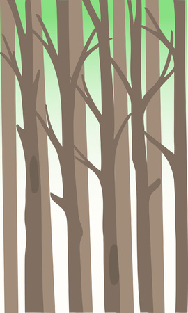 Background with a thicket of forest. Vector Illustration