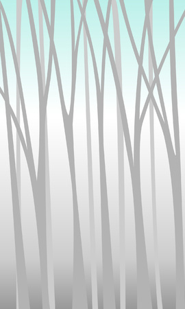 Background with a mysterious forest thicket. Minimalist style