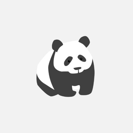 Clumsy good panda. Stylized image of a bear