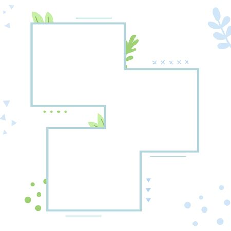 Three backgrounds decorated with ornaments and plants. Empty space for ads, advertisements, pictures. 스톡 콘텐츠 - 146047078