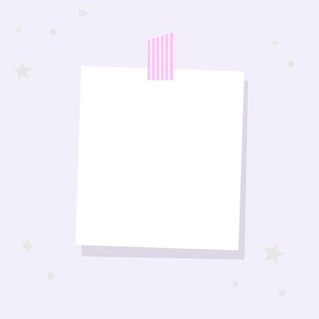 A square sheet is attached to the wall. A place for notes, reminders. 스톡 콘텐츠 - 146047004