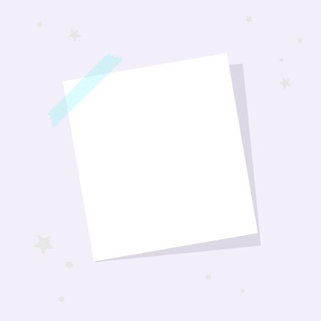 A square sheet is attached to the wall. A place for notes, reminders. 스톡 콘텐츠 - 146047101