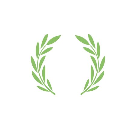 Laurel wreath. Symbol of victory, greatness, glory and power.  Ancient tradition.   sign, trademark.