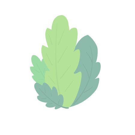 Simple leaf composition. Vector  illustration