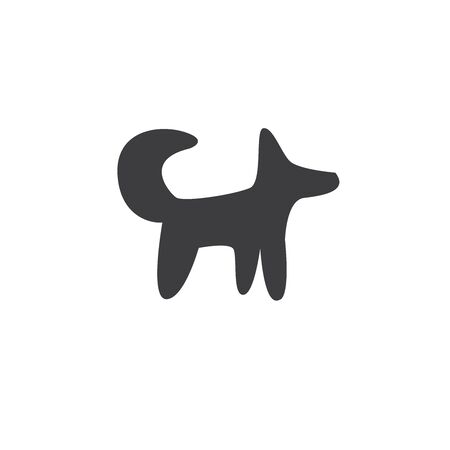 A simple picture of a dog or fox. Minimalistic style.