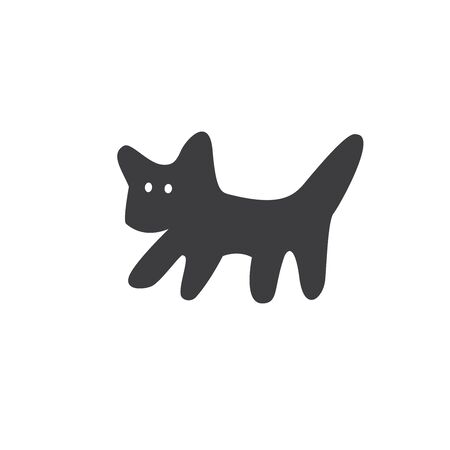 A simple picture of a cat. Minimalistic style.