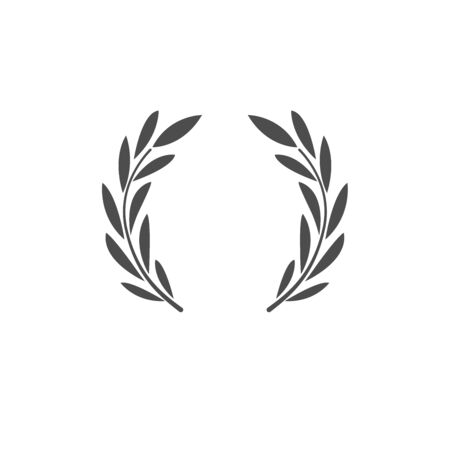 Laurel wreath. Symbol of victory, greatness, glory and power.  Ancient tradition. Logo, sign, trademark.