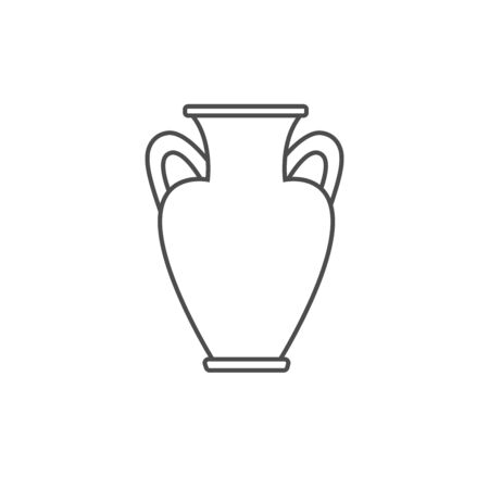 Traditional ancient Greek vase without a pattern. Monument of ancient culture. Historical and Cultural Heritage Vectores
