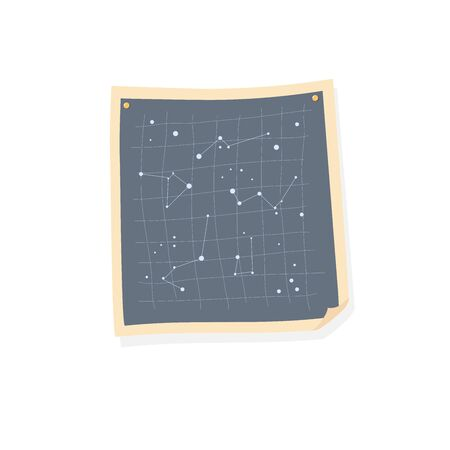 Vintage map of stars and constellations. Space exploration