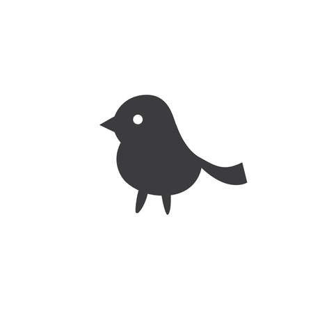 A simple picture of a bird. Minimalistic style.