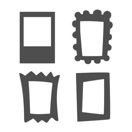 Collection of vector frames of different shapes.