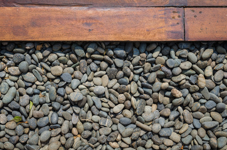 cobbles and wood panel photo