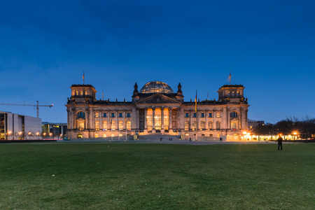 The Reichstag building in Berlin housing the German parliament photo
