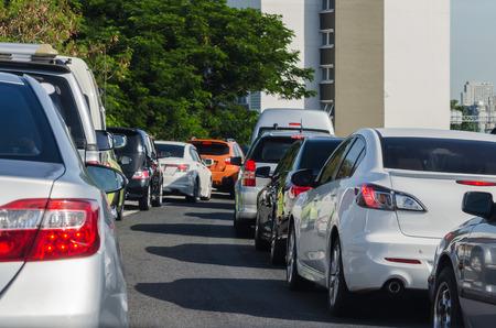Traffic jam in rush hour, Bangkok photo