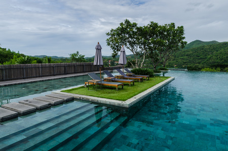 bustle: Thailand-JULY 26, 2013 :  Veranda Chiangmai High Resort, Located outside the city of Chiangmai and away from the hustle and bustle on JULY 26, 2013