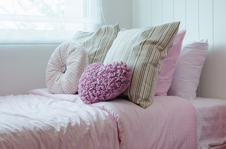 child bedroom with pink bedat home photo