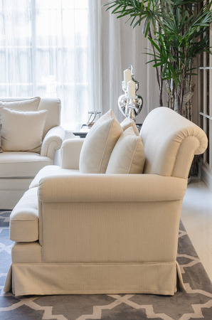 classic living room: classic sofa in luxury living room at home Stock Photo