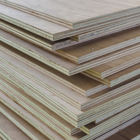 Layer of Industrial Plywood as background image