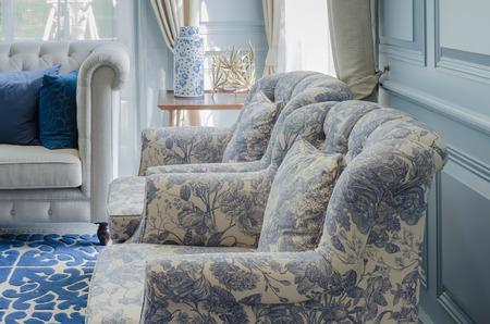 Luxus-Stuhl Stil im Wohnzimmer Standard-Bild - 34873551