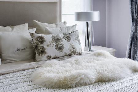 modern interior white bedroom design