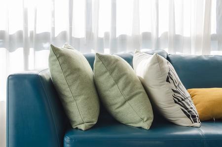 modern living: modern living room with green sofa