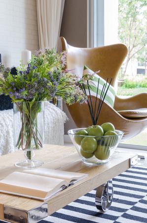 modern living: modern living room with plant in vase