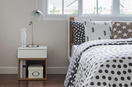 modern table side in bedroom design