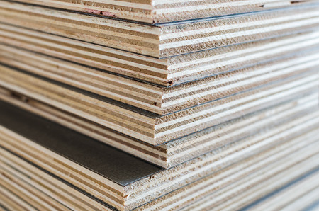 layer of plywood in construction site as background image