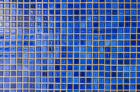 blue mosaic tile wall as background image photo