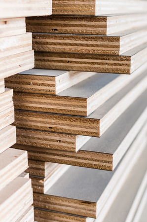 layer of industrial plywood in construction site as background image