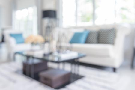 Blur Bild der modernen Wohnzimmer zu Hause Standard-Bild - 47365031