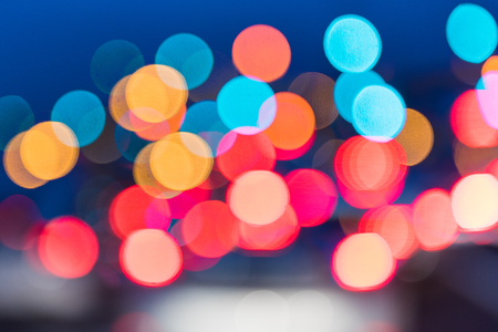 traffic jams: abstract traffic jams night light background in rush hour