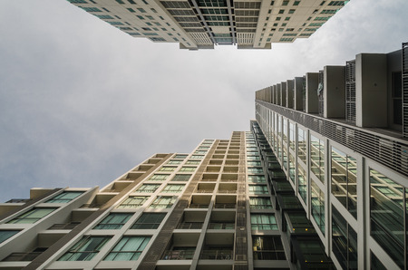 abstract architecture view of high rise building