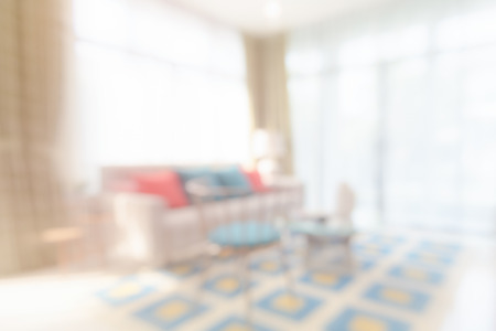 living room design: blur image of colorful living room design Stock Photo