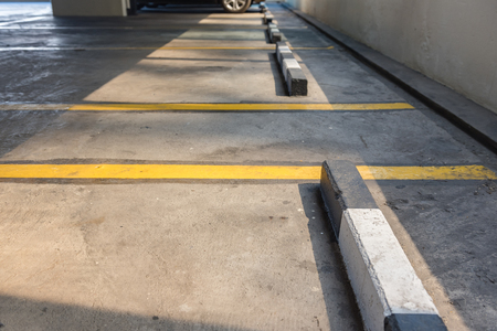 multi story car park: Empty parking lot in car parking floor with copy space