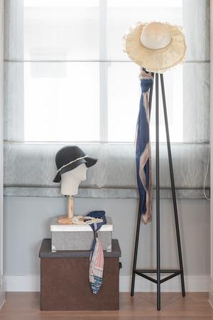 walk in closet: walk in closet with womens accessories interior design