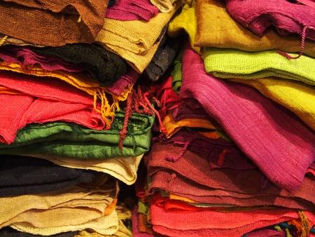 collocation: Multi-colored fabric.