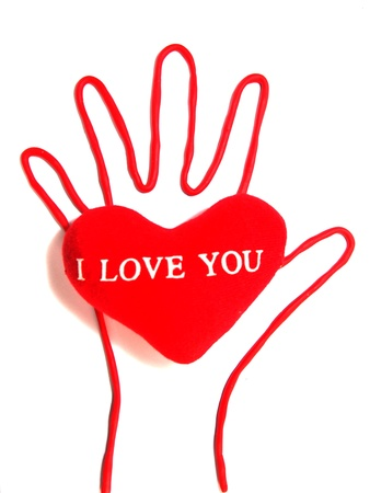make a gift: Heart in hand