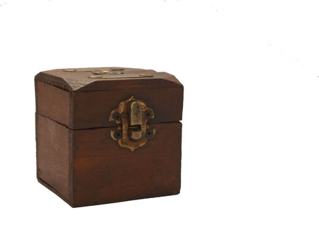 Treasure chest on a white background Stock Photo - 9429105