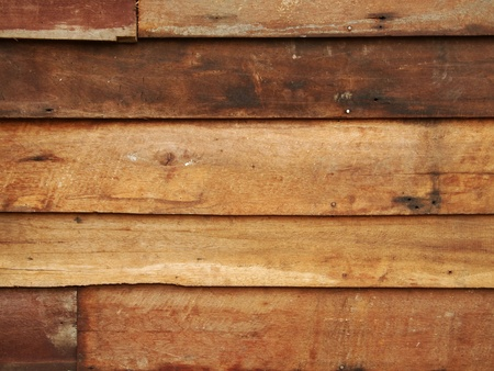 Brown wood on the wall  Stock Photo - 13025743