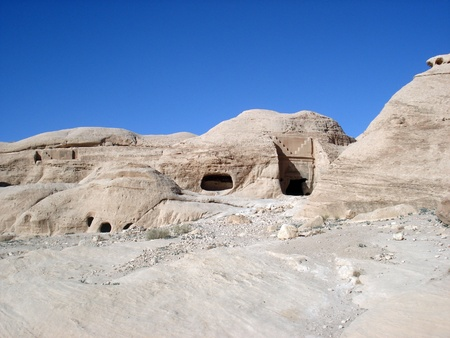 petra  jordan: Stone Mountain,Petra,jordan Stock Photo