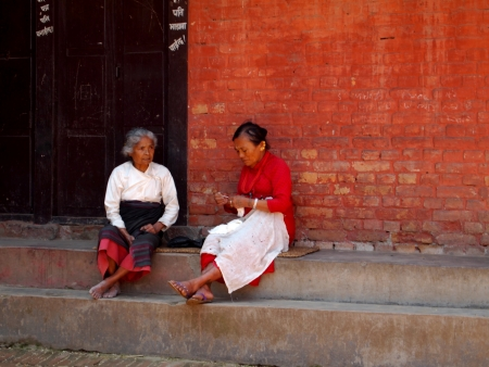 Old woman in Kathmandu, Nepal Stock Photo - 17227428