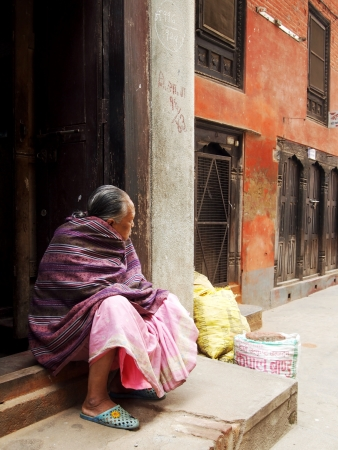 Old woman in Bhaktapur , Nepal