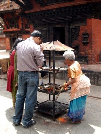 The rituals performed in the temple, Nepal Stock Photo - 17227435